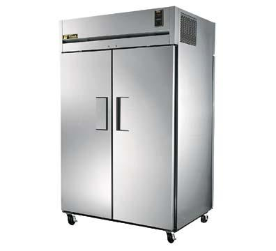 True TR2RPT-2S-2S Refrigerator, Pass-Thru, 2 Section, SS Front/Rear Doors, 56 cu ft