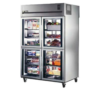 ... Refrigerator, All Stainless, Half Glass Front/Glass Rear Door, 56-cuft