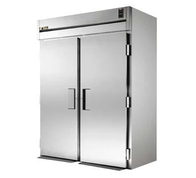 "True STR2RRI89-2S 68"" Roll-In Refrigerator - 2-Solid Doors, 89""H, All Stainless"
