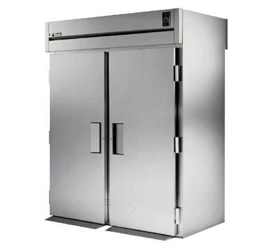 "True STR2RRT-2S-2S 68"" Roll-Thru Refrigerator - 4-Solid Doors, All Stainless"