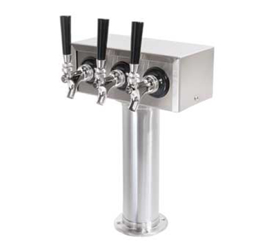 True 873105 Triple Head Draft Beer Standard, Chrome