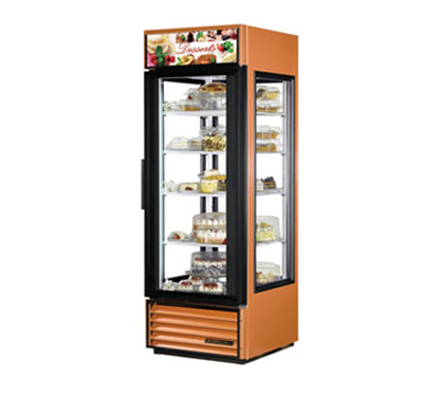 "True G4SM-23 28"" Reach-In Merchandiser - 1-Door, 4-Shelf, 23 cu ft, Copper"