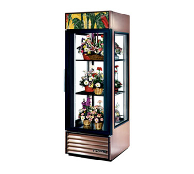 "True G4SM-23FC 28"" Floral Merchandiser - 1-Door, 2-Shelf, 23 cu ft, Copper"