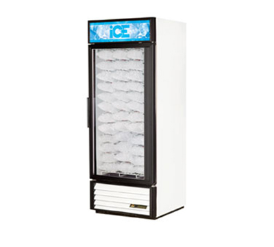 "True GDIM-26NT 30"" Ice Merchandiser - 1-Door, Holds (54) 8-lb Bags, No Tank, White"
