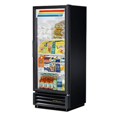 "True GDM-12-LD 25"" Refrigerated Merchandiser - 1-Door, 3-Shelf, 12 cu ft, LED, White"