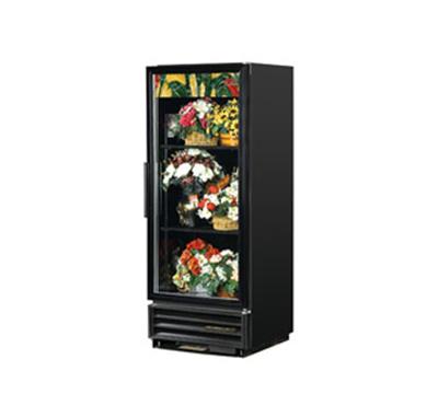 "True GDM-12FC-LD 25"" Floral Merchandiser - 1-Door, 3-Shelf, LED, 12 cu ft, Black"