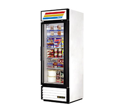 "True GDM-23F-LD 27"" Freezer Merchandiser - 1-Door, 4-Shelf, 23 cu ft, LED, White"