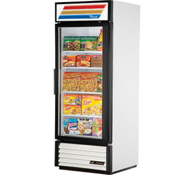 "True GDM-26F-LD 30"" Freezer Merchandiser - 1-Door, 4-Shelf, 26 cu ft, LED, White"