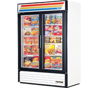 """True GDM-49F-LD 55"""" Freezer Merchandiser - 2-Door, 8-Shelf, 49 cu ft, White"""
