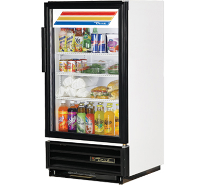 "True GDM-8 25"" Countertop Refrigerated Merchandiser - 1-Door, 3-Shelf, White"