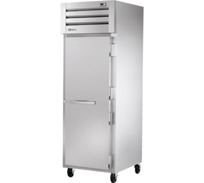 "True STA1F-1S 28"" Reach-In Freezer - 1-Solid Door, LED, Stainless Exterior"