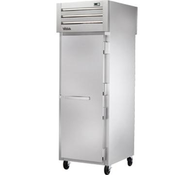 "True STG1RPT-1S-1S 28"" Pass-Thru Refrigerator - 2-Solid Doors, Stainless/Aluminum"