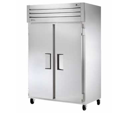 "True STM2F-2S 53"" Reach-In Freezer - 2-Solid Doors, Recessed Handles, Stainless/Aluminum"