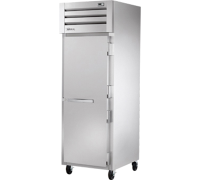 "True STR1F-1S 28"" Reach-In Freezer - 1-Solid Door, LED, All Stainless"