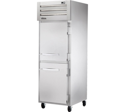 "True STR1F-2HS 28"" Reach-In Freezer - 2-Solid Half Doors, LED, All Stainless"
