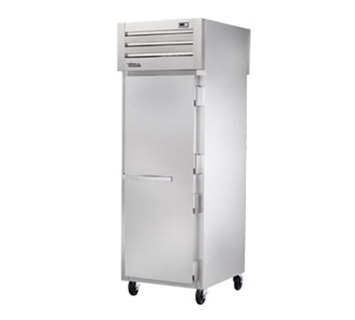 "True STR1HPT-1S-1S 28"" Pass-Thru Heated Cabinet -2-Solid Doors, Al"