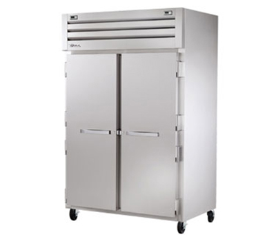"True STR2DT-2S 53"" Reach-In Refrigerator/Freezer - 2-Solid Doors, LED, All Stainless"