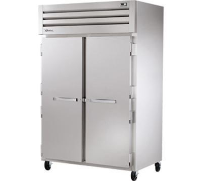 "True STR2R-2S 53"" Reach-In Refrigerator - 2-Solid Doors, LED, All Stainless"
