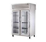 "53"" Pass-Thru Refrigerator - 2-Glass/2-Solid Doors, LED, All Stainless"