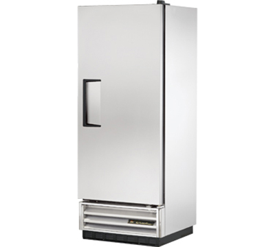 "True T-12 25"" Single Section Reach-In Refrigerator, Solid Door, 115v"