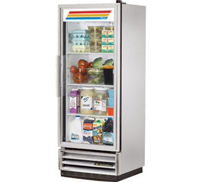 "True T-12G 25"" Single Section Reach-In Refrigerator, Glass Door, 115v"