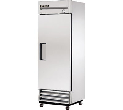 "True T-19F 27"" Reach-In Freezer - 1-Solid Door, Shallow Depth, Stainless/Aluminum"