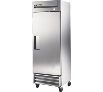 "True T-19FZ 27"" Reach-In Zero Degree Freezer - 1-Solid Door, Shallow, Stainless/Aluminum"