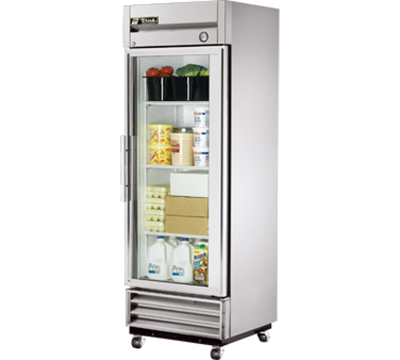 "True T-19G 27"" Single Section Reach-In Refrigerator, Glass Door, 115v"