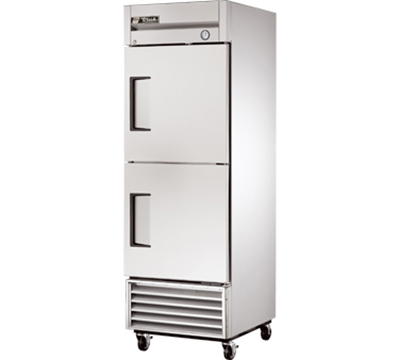 "True T-23-2 27"" Reach-In Refrigerator - 2-Solid Half Doors, Stainless/Aluminum"