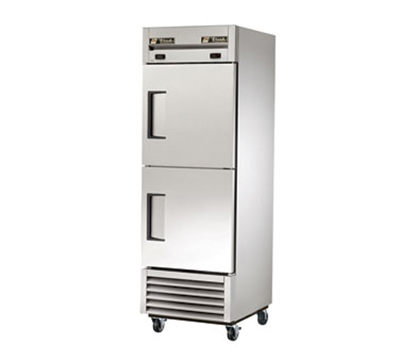 True T-23DT 19-cu ft One Section Commercial Refrigerator Freezer - Solid Doors, Bottom Compressor, 115v
