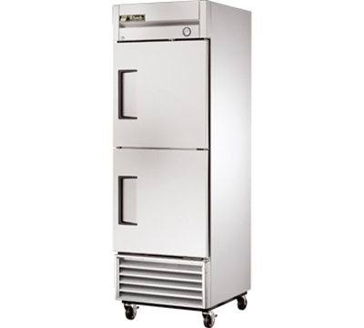 "True T-23F-2 27"" Reach-In Freezer - 2-Solid Half Doors, Stainless/Aluminum"