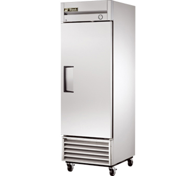 "True T-23F 27"" Reach-In Freezer - 1-Solid Door, Stainless/Aluminum"
