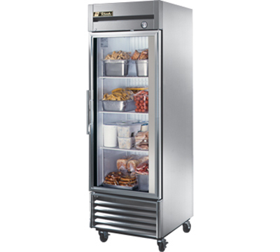 "True T-23FG 27"" Reach-In Freezer - 1-Glass Door, Stainless/Aluminum"