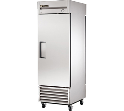 "True T-23PT 27"" Pass-Thru Refrigerator - 2-Solid Doors, Stainless/Aluminum"