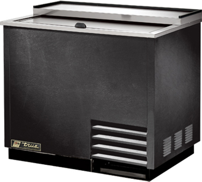 True T-36-GC 1- Section Glass Chiller w/ 180- Mug Capacity, Black, 115v