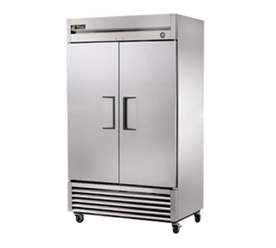 "True T-43 47"" Reach-In Refrigerator - 2-Solid Doors, Stainless/Aluminum"
