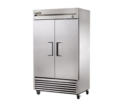 "True T-43F 47"" Reach-In Freezer - 2-Solid Doors, Stainless/Aluminum"