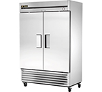 "True Refrigeration T-49 54"" Reach-In Refrigerator - 2-Solid Doors, Stainless/Aluminum"