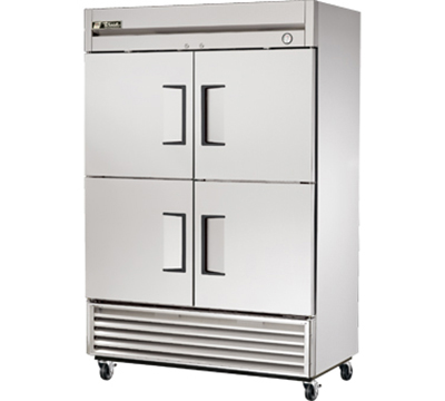 "True T-49-4 54"" Reach-In Refrigerator - 4-Solid Half Doors, Stainless/Aluminum"