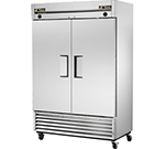 True T-49DT 46-cu ft Two Section Commercial Refrigerator Freezer - Solid Doors, Bottom Compressor, 115v