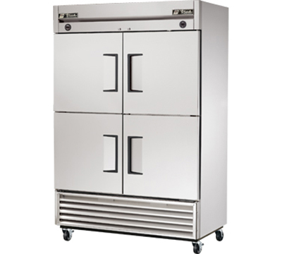 "True T-49DT-4 54"" Reach-In Refrigerator/Freezer - 4-Solid Half Doors, Stainless/Aluminum"