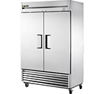 "True T-49F 54"" Reach-In Freezer - 2-Solid Doors, Stainless/Aluminum"
