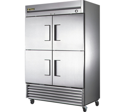 "True T-49F-4 54"" Reach-In Freezer - 4-Solid Half Doors, Stainless/Aluminum"