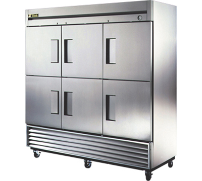 "True T-72-6 79"" Reach-In Refrigerator - 6-Solid Half Door, Stainless/Aluminum"