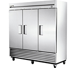 "True T-72F 79"" Reach-In Freezer - 3-Solid Door, Stainless/Aluminum"
