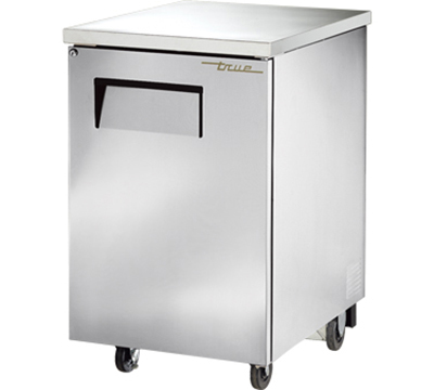 "True TBB-1-S 24"" Back Bar Cooler - Holds (30) 6-Packs, 1-Solid Door, Stainless"