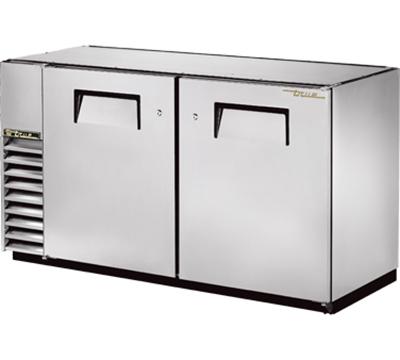 "True TBB-24GAL-60-S 59.88 "" Bar Refrigerator w/ (2) Section - (2) Solid Swinging Doors, 115v"