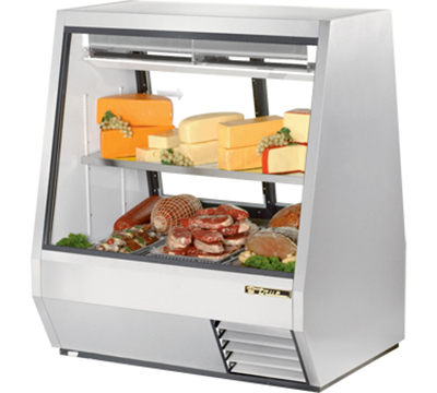 "True TDBD-48-2 48"" See-Thru Double Duty Deli Case - Glass Front, 2-Rear Doors"
