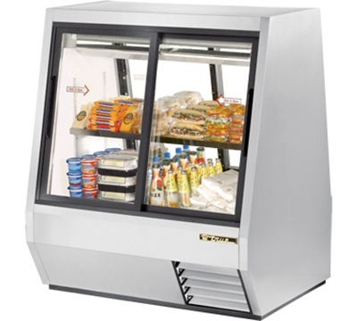 "True TDBD-48-4 48"" Pass-Thru Double Duty Deli Case - 2-Front/2-Rear Doors"