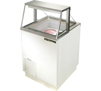 "True TDC-27 27"" Dipping Cabinet - Holds (4) 3-gal Display Cans, White"